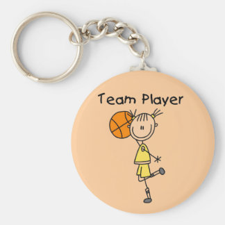 B-Ball Team Player Tshirts and Gifts Basic Round Button Key Ring
