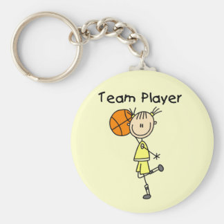 B-Ball Team Player Tshirts and Gifts Keychain