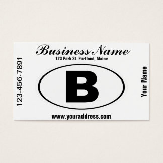 B Bellingham Washington Business Card