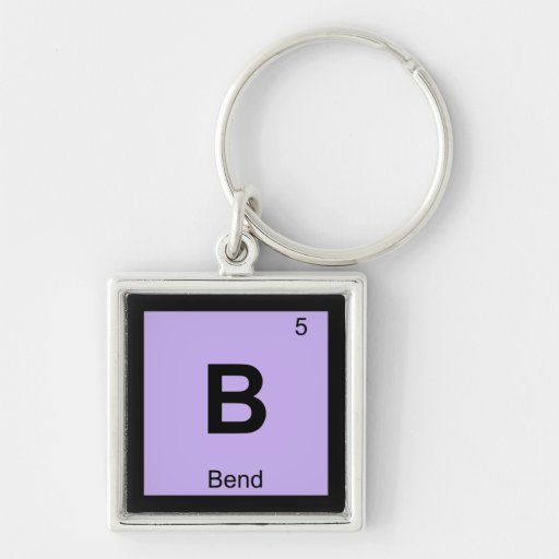 B - Bend Oregon Chemistry Periodic Table Symbol Key Chain