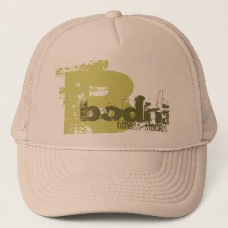B, bodhi, fitness studios trucker hat