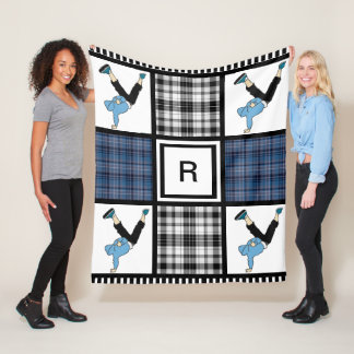 B Boy or B Girl & Plaid Fleece Blanket