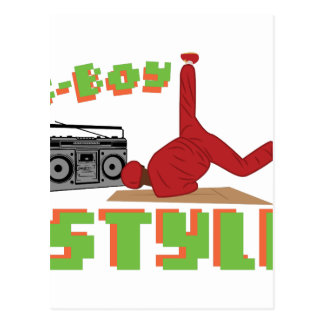 B-Boy Style Postcard
