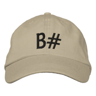 B# EMBROIDERED CAP