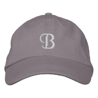 B EMBROIDERED HAT