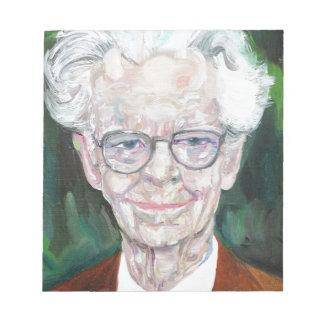 b.f. skinner - oil portrait.2 notepad