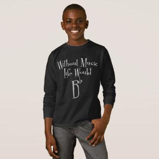 B Flat Boy's Dark Long Sleeve T-Shirt