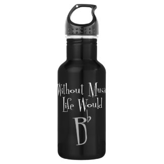 B Flat Dark Water Bottle