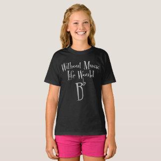 B Flat Girl's Dark T-Shirt
