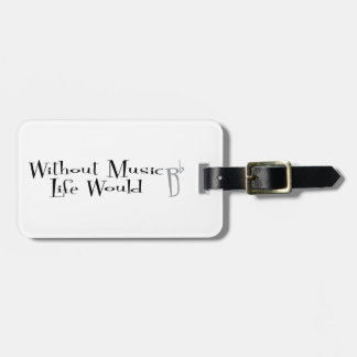B Flat Luggage Tag