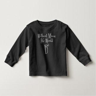 B Flat Toddler Dark Long Sleeve T-Shirt
