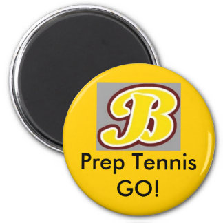 b for brebeuf, Prep Tennis GO! 6 Cm Round Magnet