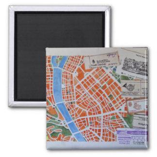 B for Budapest magnet