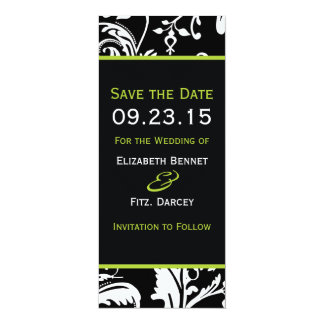 B&G Contemporary Damask Save the Date Skinny 10 Cm X 24 Cm Invitation Card