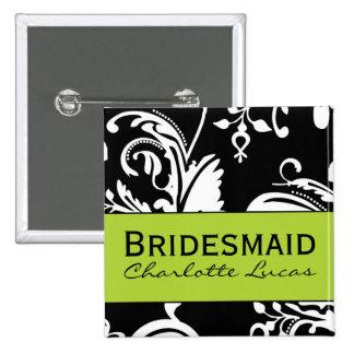 B&G Square Bridesmaid Button