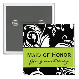 B&G Square Maid of Honor Button