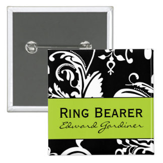 B&G Square Ring Bearer Button