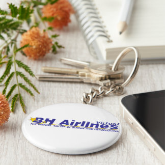 B&H Airlines Virtual - Key Ring Basic Round Button Key Ring