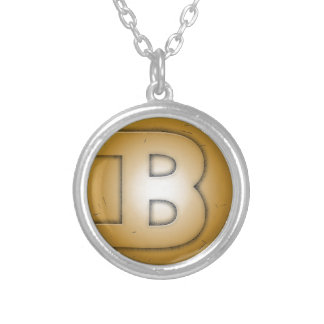 B initial letter personalized necklace