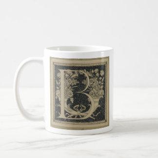"""B"" initial mug ~ Classic James Tissot Design"