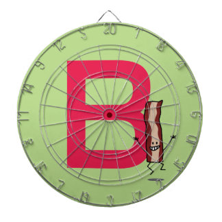 B is for Bacon happy jumping strip abc letter Dartboard