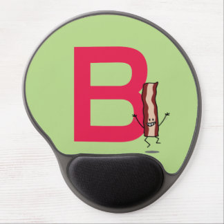B is for Bacon happy jumping strip abc letter Gel Mouse Pad
