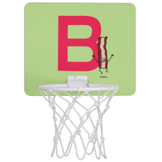 B is for Bacon happy jumping strip abc letter Mini Basketball Hoop