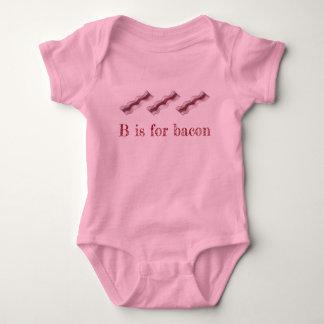 B is for Bacon Sizzling Breakfast Strips Letter B Baby Bodysuit