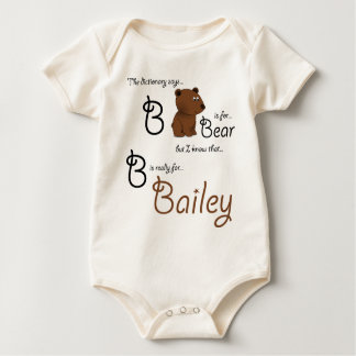 B is for Bailey, Baby Bear Tee