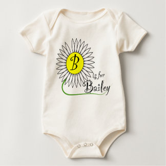 B is for Bailey Daisy Baby Bodysuit