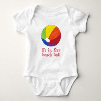 B is for Beach Ball Rainbow Beachball Vacation Baby Bodysuit