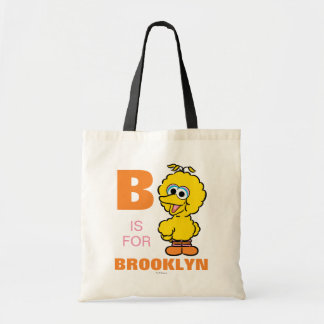 B is for Big Bird | Add Your Name Tote Bag