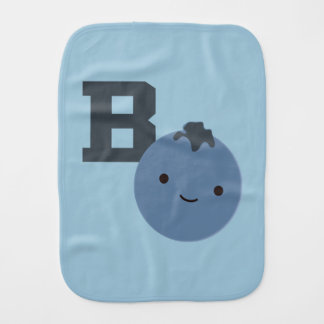 B is for Blueberry Burp Cloth
