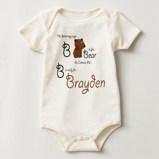 B is for Brayden, Baby Bear Tee