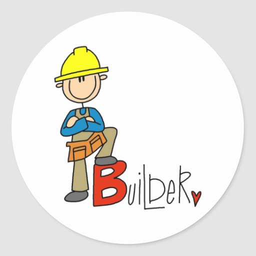 B is for Builder Stickers
