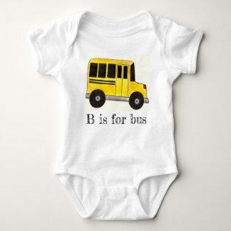 B is for Bus Yellow School Bus Education Alphabet Baby Bodysuit