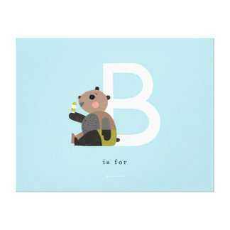 B is for... gallery wrap canvas
