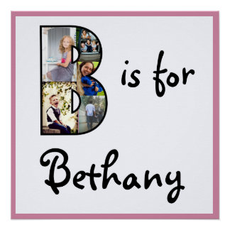 B is for Name Poster