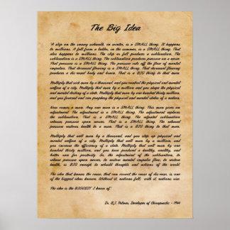 B J Palmer - The Big Idea Chiropractic Print