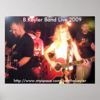 B.Keyler Band Live 2009 Poster