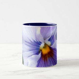 b Lavender Blue Pansy Two-Tone Coffee Mug