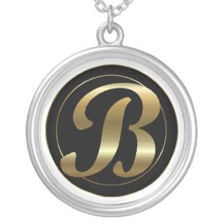 """B""ling Round Pendant Necklace"