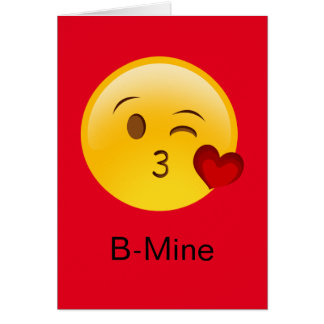 B-Mine Emoji valentine Card