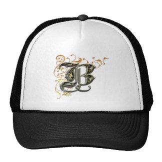 """B"" monogram hat"
