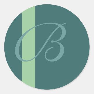 B Monogram Sticker