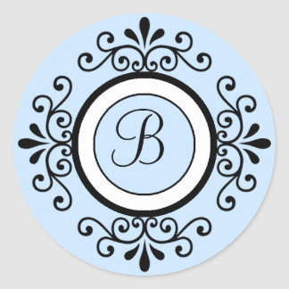 B Monogram Wedding Envelope Seal Stickers