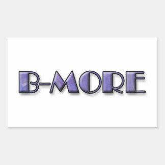 B-MORE Logo Rectangular Sticker