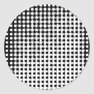 b n w.jpg classic round sticker
