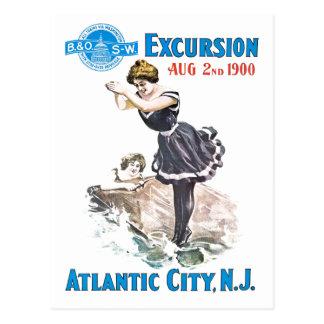 B+O Railroad Excursion 1900 Postcard