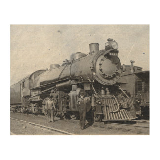 B & O Steam Engine 4013 Wood Print